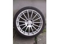 17in ALLOY WHEELS complete with MARANGONI radial tubeless tyres