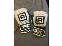 RDX Leather Gel Fight Boxing Gloves, 16oz