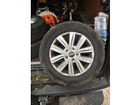 Man tge van alloy wheels and tyres