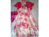 Jaques Vert Stunning Fushia - dress and jacket- Size 12 , with matching shoes , bag and fascinator