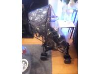 Baby's buggy push me 2u (black)