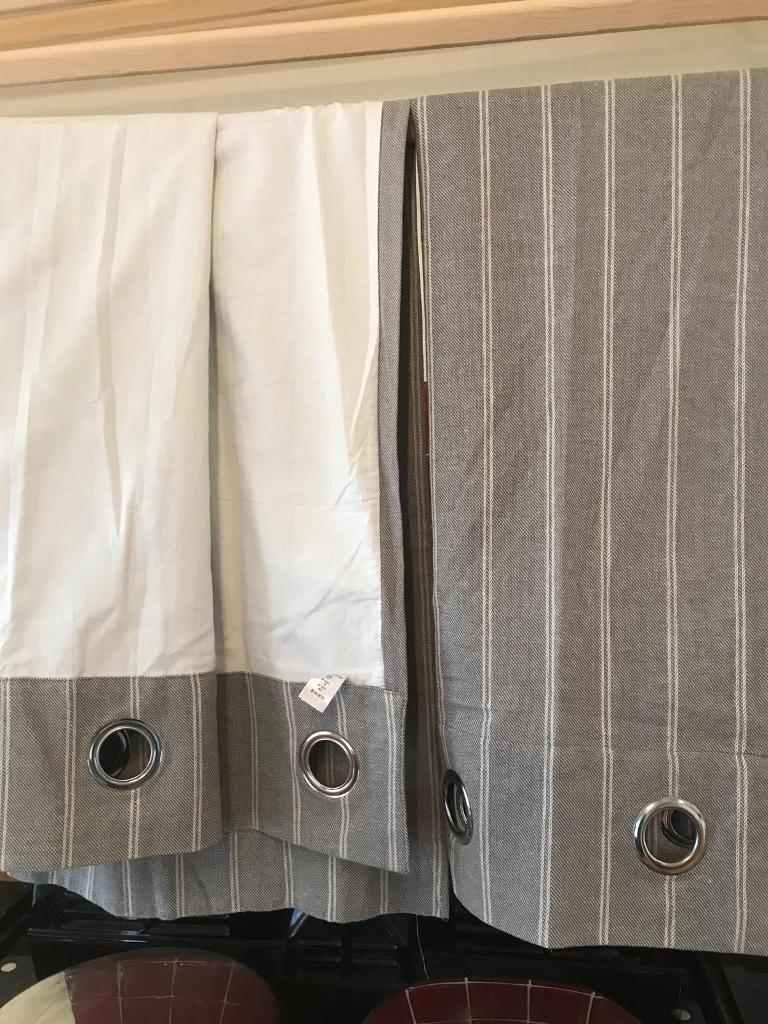 Next light grey striped curtains