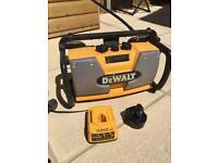 Dewalt radio, charger, battery.
