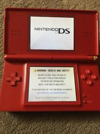 Red DS lite and games