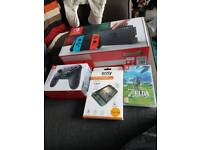 Brand New Nintendo switch with zelda and accessories