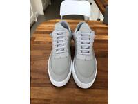 Filling pieces leather gray sneakers uk 9