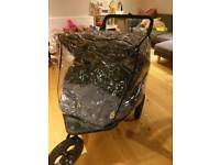 Out n About mk4 double buggy - excellent condition with extras