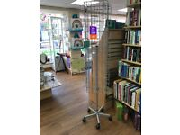 Shop Display Card Stand on wheels revolving