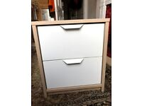 2 Ikea Askvoll 2 drawer chest of drawers/bedside cabinets