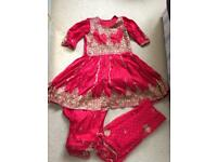 Red silk Indian Suit