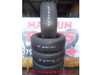 AB39. 4X 205/55/16 91H 1X5MM 1X4.5MM 2X4MM FULDA KRISTALL SUPREMO M+S - USED WINTER TYRES