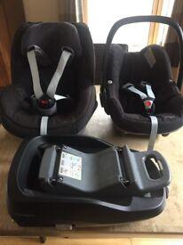 Maxi Cosi Car Seats Pebble, Pearl and Family Fix Isofix Base