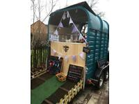 Vintage Catering trailer/ horse trailer conversion/prosseco/gin bar/weddings/coffee