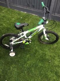 Children's apollo force bike with stabilisers 18inch