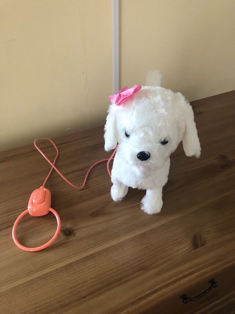 Walking Toy Dog With Lead