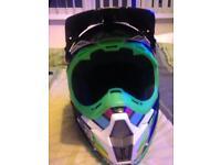 Motocross downhill helmet