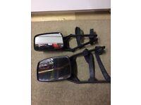 Detachable caravan mirrors for car