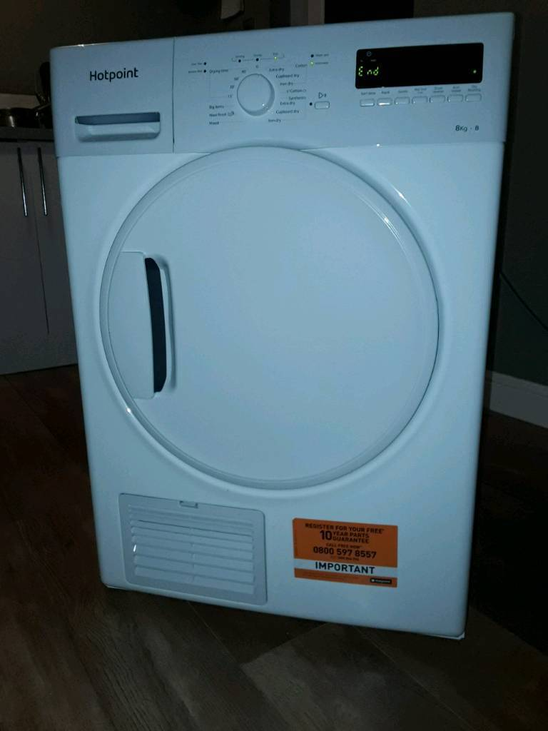 Hotpoint 8kg condenser tumble dryer in perfect condition just over 1 year  old only used 3 or 4 times