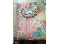 Reversible SINGLE Duvet Cover & Frilly Pillowcase