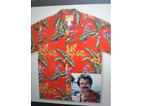 2 Hawaiin Shirts Red and Turquoise