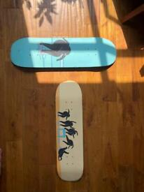 Art Pieces painted on Skate Boards