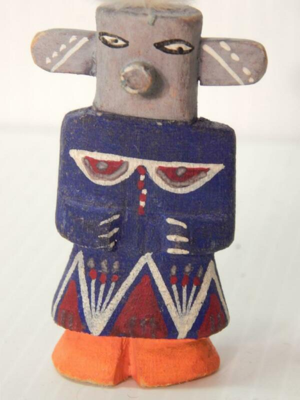 SMALL HARVEY VINTAGE HOPI PUEBLO INDIAN HIGHWAY ROUTE 66 KACHINA LOW PRICE  - A+