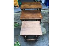 Oak nest of tables (REDUCED)