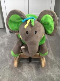 Kinder Kraft elephant plush rocking horse