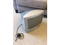 CRT TV ideal for retro gaming - includes built in DVD player