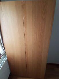 Ikea wardrobe oak PAX double with draws