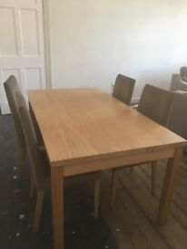 M&S table and 4 chairs