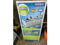Intex triple layered swimming pool, brand new in box with cover and ground sheet. 4m x2m x1m