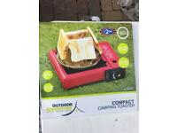 4 slice compact camping toaster for gas stove