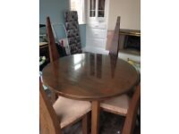 Hand Crafted Contemporay Real Wood Dining Table and 4 Chairs
