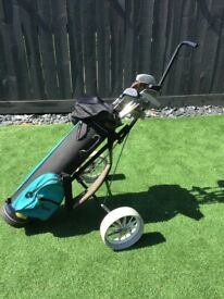 Golf Trolley (foldable) with Golf Bag and Clubs for player 6ft or over