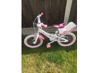 """Girls 16"""" pink bicycle"""