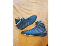 Used Adidas Pretereo III Boxing Boots - Blue - Size UK10