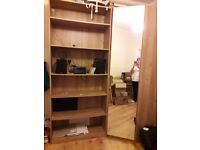 Bookself and corner unit solid wood