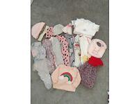Baby girl newborn clothing bundle