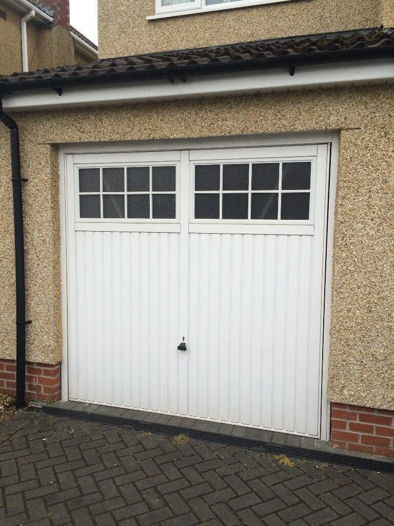 Garador Glazed Steel Garage Door Up And Over With Integral Frame