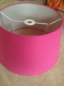 Large pink lampshade