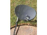 Satellite dish and pole