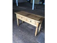 Corona Ex - Display New Mexican Pine Solid Wood Table Bedroom Living Room With Draws Storage Deliver