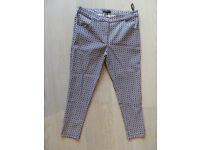 New Look Patterned Petite Stretchy Trousers