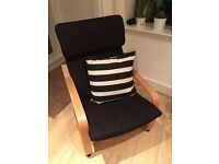 Poang black IKEA chair