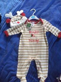Christmas Babygro newborn