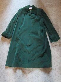 c1950's GREEN CORDUROY COAT