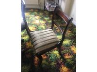 Dark wood extendable dining table and chairs (seats 6-8 persons)