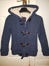 Boys fluffy jacket age 8-9 years