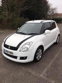 Suzuki swift 1.5-auto-pearl white-1 owner-09 reg-hpi clear-cheap insurance+px welcome